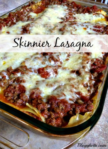 Skinnier Lasagna with Meat Sauce