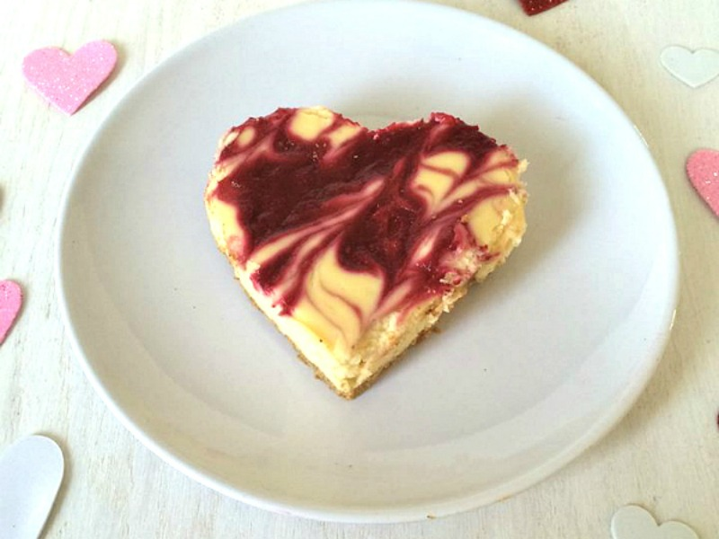 White Chocolate Raspberry Cheesecake Hearts