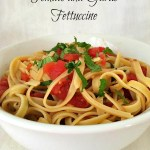Meatless Monday - Tomato and Garlic Fettuccine