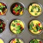 Meatless Monday - Mini Muffin Veggie Omelets