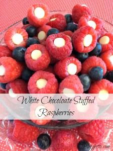 White Chocolate Stuffed Raspberries