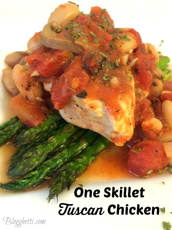 One skillet Tuscan Chicken