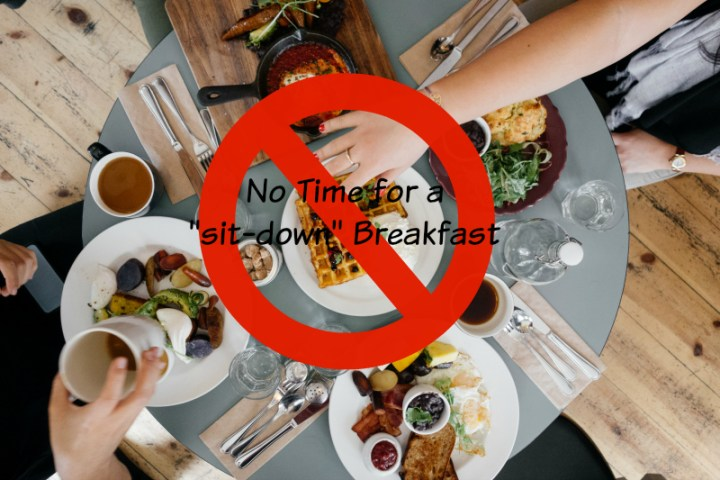 breakfast sit down meal