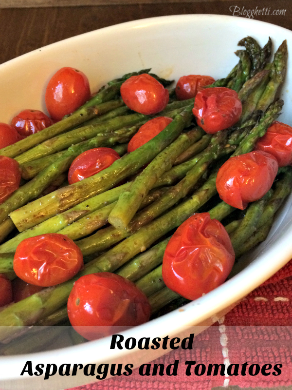 healthy and quick roasted asparagus and tomatoes side dish