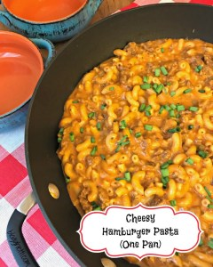 Cheesy Hamburger Pasta (One Pan)