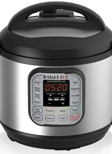 Have you gotten on board with the newest of the pressure cookers, the Insta Pot? Sometimes it can be hard to plan ahead and think about food when we're in the grips of a deadline, and take-out containers seem more appealing than slogging away in the kitchen when you've come home from work. However, there is a way you can get stuff done and have a healthy, delicious dinner at the same time. Dinner can be on the table in one hour or less and clean up is a cinch, too! (Image Source Amazon.com)