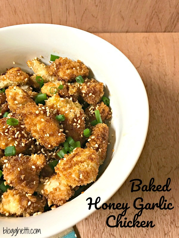 Simple and delicious Honey Garlic Chicken that is baked, not fried and coated with a sweet, spicy, and garlicky sauce. Perfect for any night of the week.