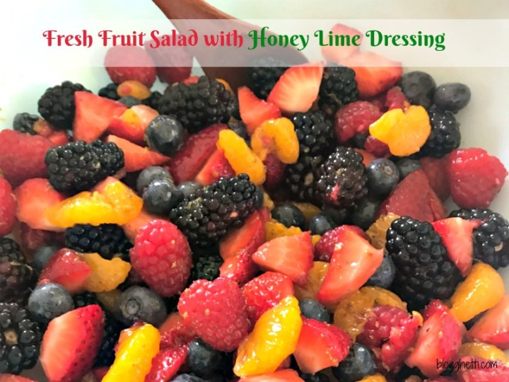 Celebrate the summer with this Fresh Fruit Salad that is coated with a delicious Honey Lime Dressing. This cool, sweet, and refreshing salad is summer in a bowl!
