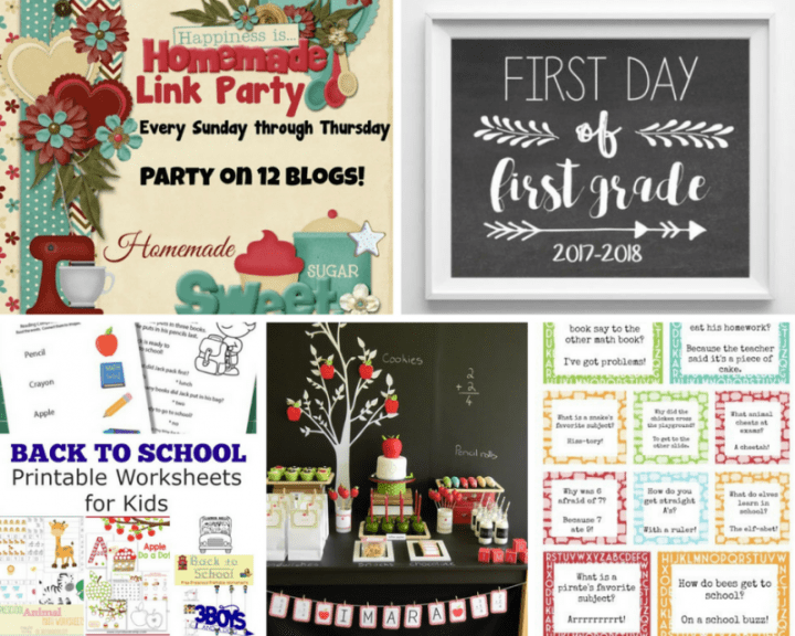 This week's party is all about the upcoming back-to-school season! From first day of school printables to ways to punch up school uniforms, there's a little something for everyone this week.