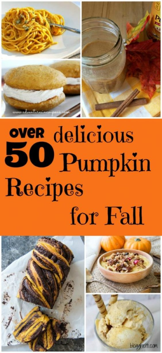 Get ready for fall with this mouthwatering round up of pumpkin recipes! Recipes from breakfast and main dish recipes to cakes and cookies, not to mention breads and muffins, plus so many more delicious ways pumpkin can be used.