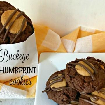 Buckeye Thumbprint Cookies