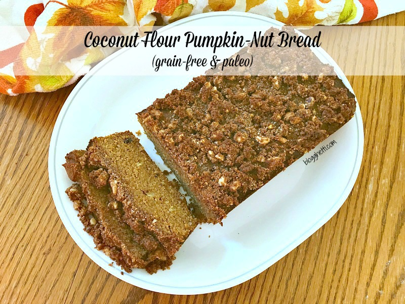 This healthy Coconut Flour Pumpkin Nut Bread is so delicious that unless you know what's in it, you won't believe it's good for you. It's also grain-free and Paleo.