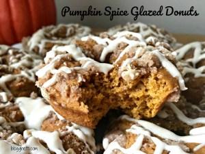 Pumpkin Spice Glazed Donuts