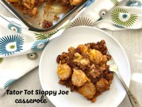 This Tator Tot Sloppy Joe Casserole is a fun twist on the old classic. Easy to prepare and has all of the flavors you love in a Sloppy Joe.