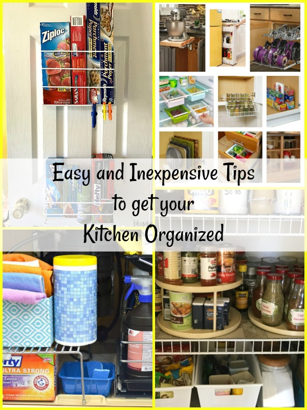 What makes your kitchen great isn't how large it is or the fancy appliances, it's all about organization. Here are a few easy and affordable tips to organize your kitchen so that you can love getting in there and cooking.