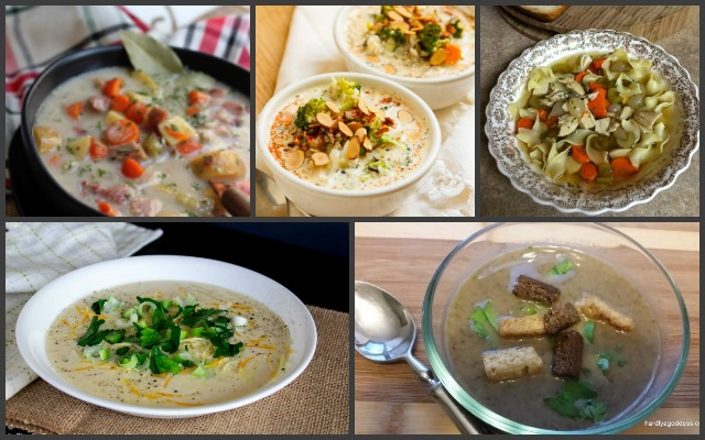 Here are 15 slow cooker soups to make dinner easy, save you time and can be ready with minimal prep and perfect for #NationalSoupMonth or any day of the year!