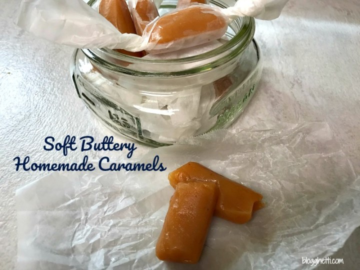 Soft buttery homemade caramels are made with simple ingredients like sugar, butter, light corn syrup, and sweetened condensed milk. The result is a delicious soft caramel candy that is perfect for the sweet-tooth cravings or gift-giving.