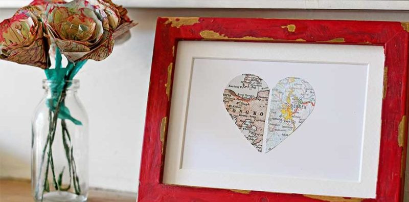 Personalized Map Heart Gift