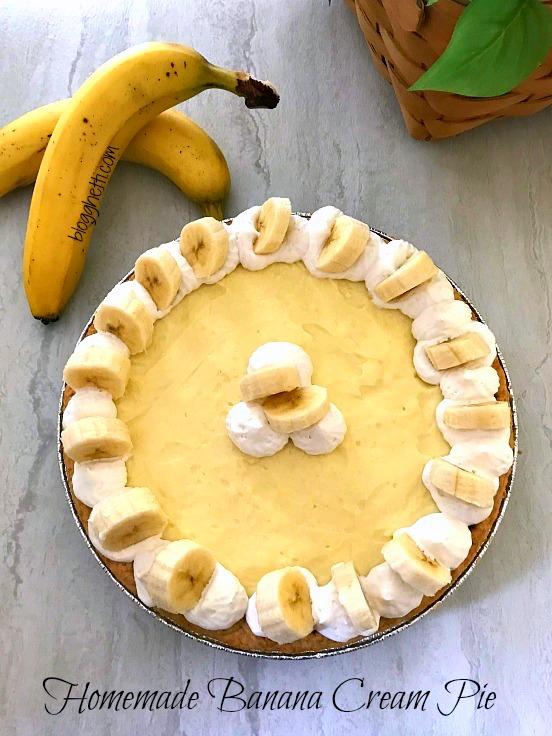 Homemade Banana Cream Pie 1