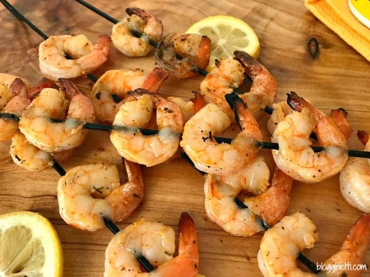 Garlic Butter #Grilled #Shrimp Skewers