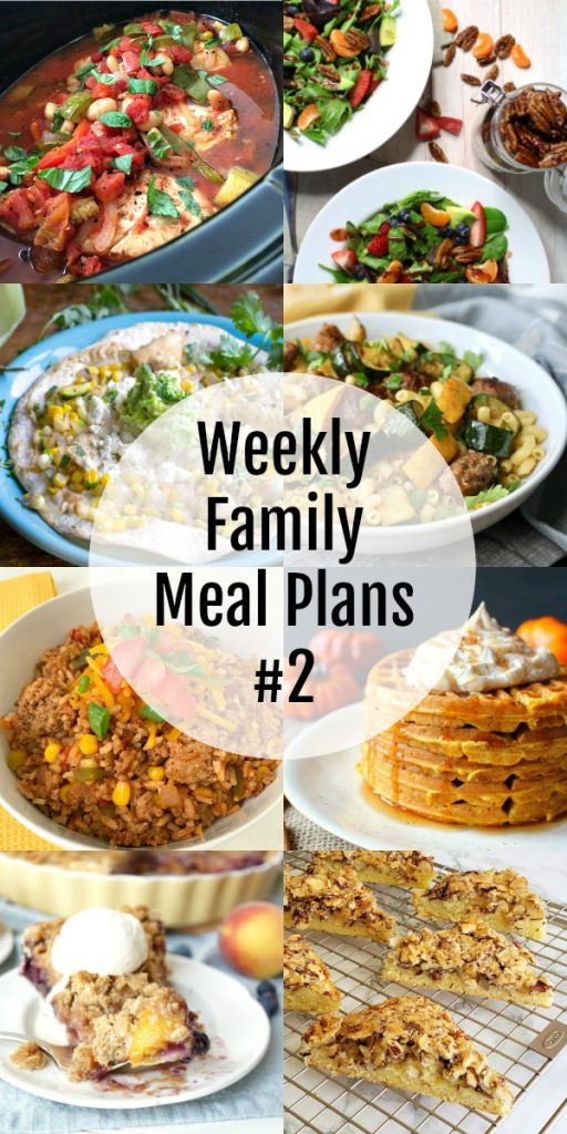 Weekly Family Meal Plans #2