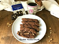 Chocolate Hazelnut Biscotti with Divine Chocolate - feature