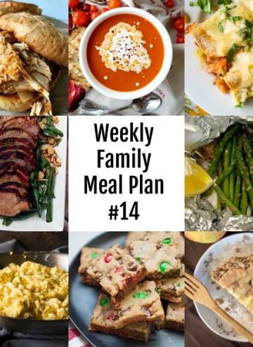 Here's this week's Weekly Family Meal Plan! My goal is to make your life just a bit easier. You'll find a variety of dinner ideas sure to please even the pickiest eater.