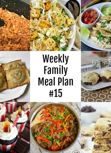 Weekly Family Meal Plan #15 #mealplan #menu #dinner