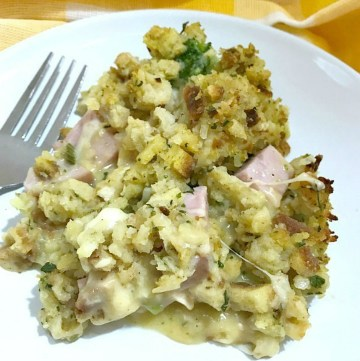 Chicken Cordon Bleu Casserole - serving