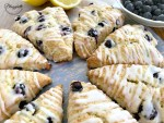 Lemon Blueberry Scones with a lemon glaze