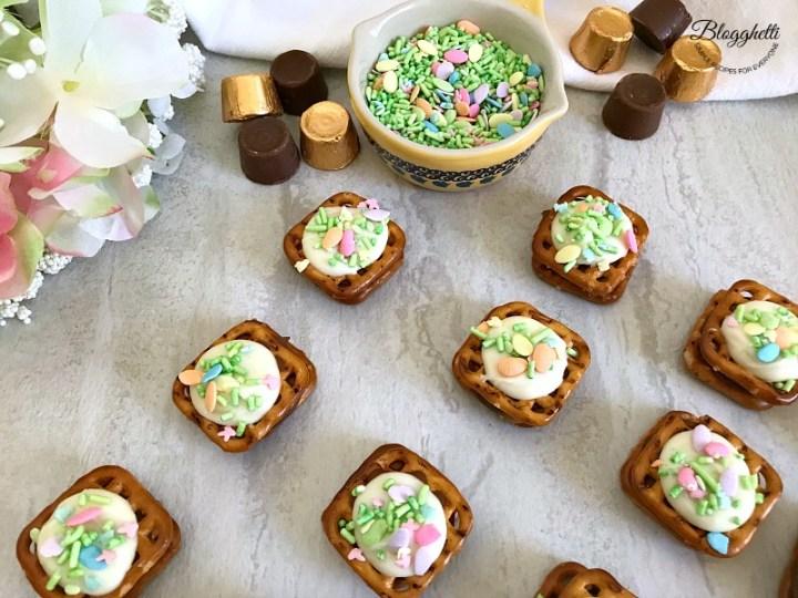 Spring Rolo Pretzel Bites with brand