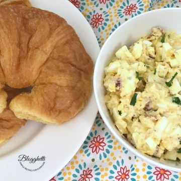 Bacon Cheddar Egg Salad = feature
