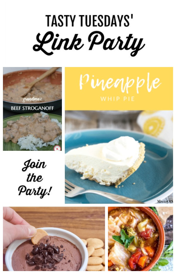Tasty Tuesdays' Link Party feature collage
