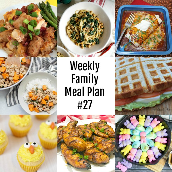 Weekly Family Meal Plan #27 - collage