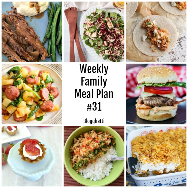 collage of this week's meal plan