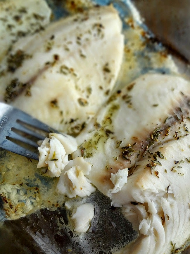 Baked Lemon Thyme tilapia