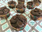 Low-Sugar Double Chocolate Muffins - feature