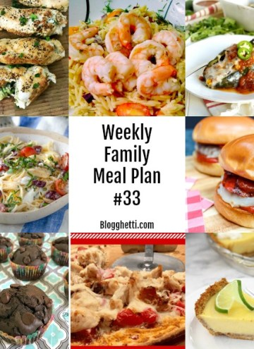 Weekly Family Meal Plan collage