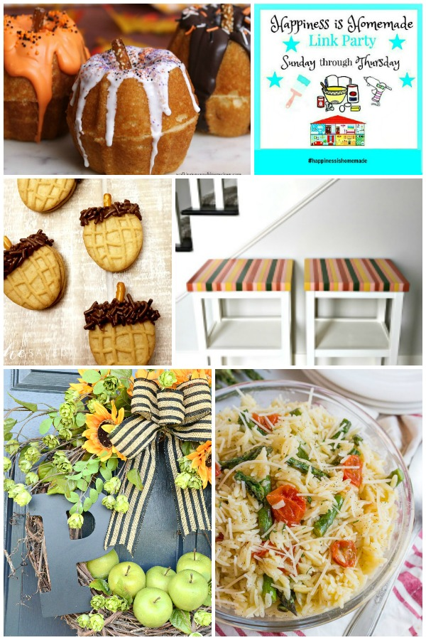 Collage of Happiness is Homemade Link Party features for August 29