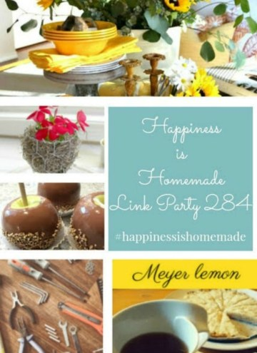 featured collage of this week's Happiness is Homemade Link Party