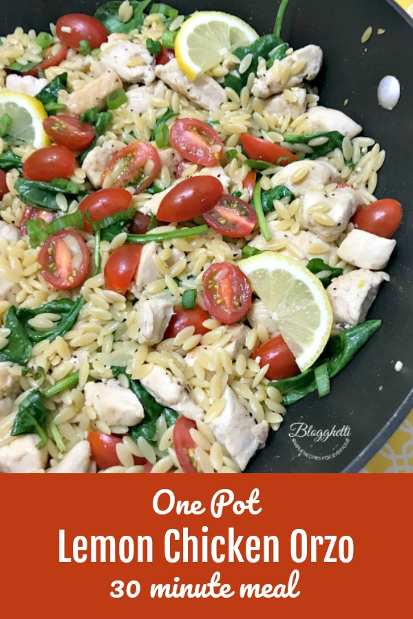 One Pot Lemon Chicken Orzo - 30 minute meal