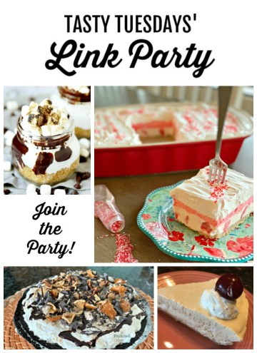 Tasty Tuesdays' Link Party Collage of features for Aug 20