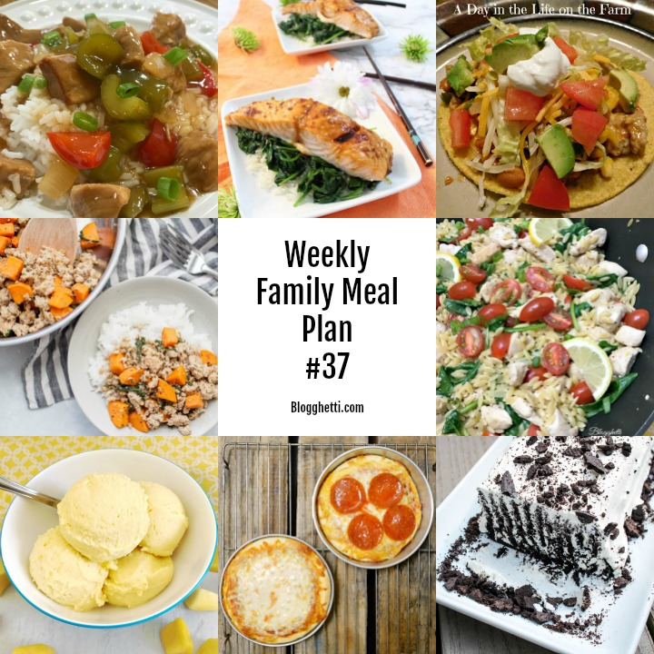 collage of Weekly Family Meal Plan 37