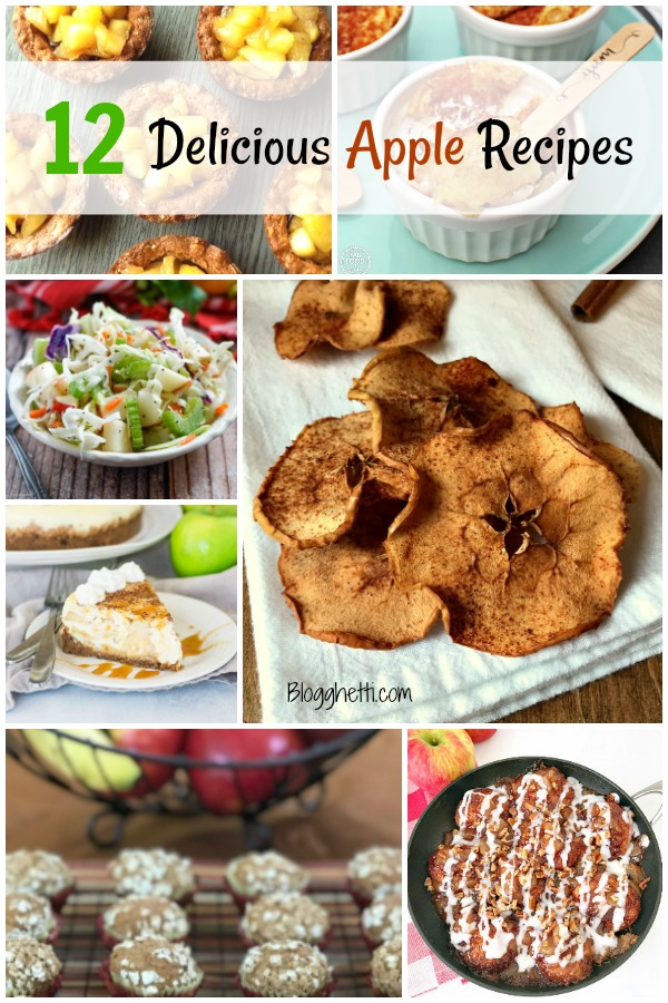feature image collage of apple recipes