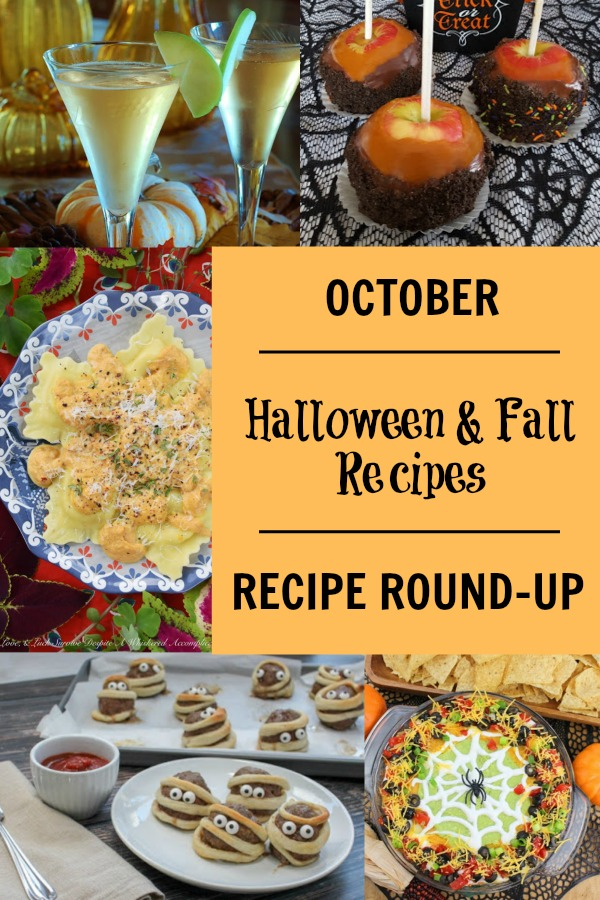October Monthly Recipe Round Up Collage - pin