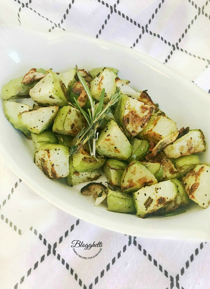 Chayote roasted with herbs