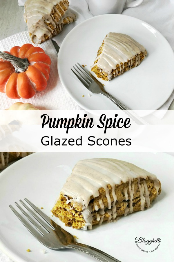 Pumpkin Spice Glazed Scones collage for pin