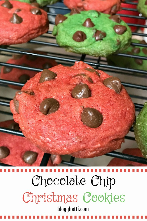 Chocolate Chip Christmas Cookies - pin image