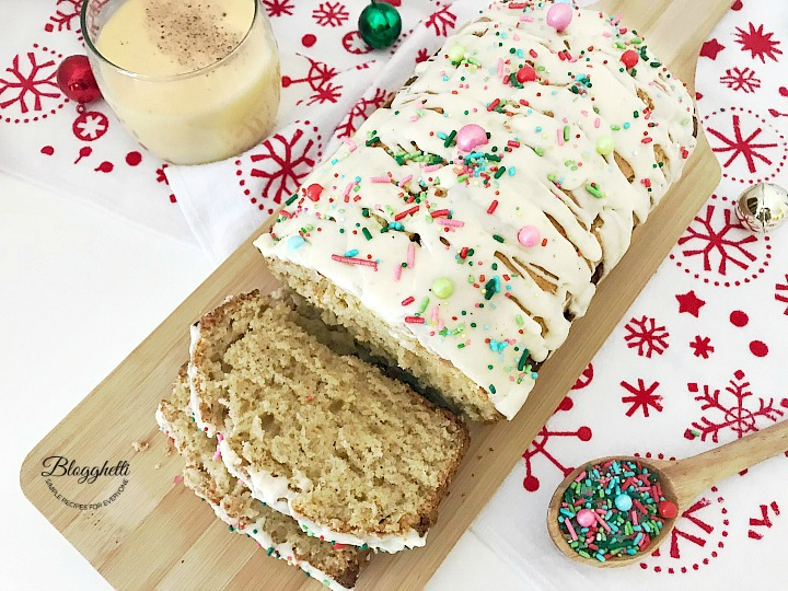 Holiday Eggnog Bread - twitter
