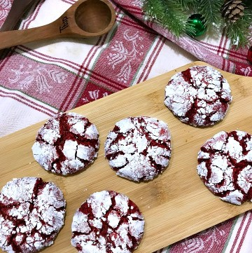 Easy Red Velvet Crinkle Cookies - twitter